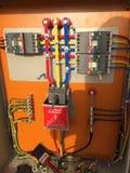 Fördelning för elektrisk strömförsörjning Arkivfoto