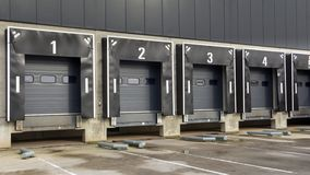 Fördelningsmitt och anslutningsstation för lastbilar Arkivbild