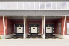 Fördelningsmitt och anslutningsstation för lastbilar Royaltyfri Bild
