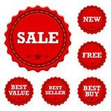 Fördernde Verkaufs-Aufkleber Lizenzfreies Stockfoto