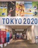 Förderndes Ereignis, zum von Freiwilligen für die Organisation der 2019 olympisch und der in Japan gehalten zu werden Paralympic- lizenzfreie stockfotos