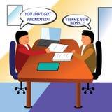 Förderung des Angestellten Stockfotos