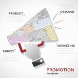 Förderungen infographics Lizenzfreies Stockbild
