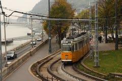 Förderwagen in Budapest Stockfotografie