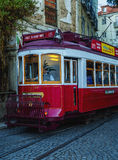 Förderwagen in Lissabon Stockfotos
