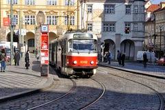 Förderwagen in Prag Stockfotografie