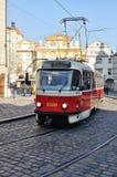 Förderwagen in Prag Stockbild