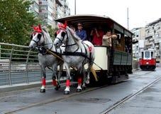 Förderwagenparade Stockfoto