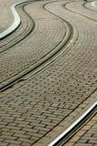 Förderwagenspuren Stockfoto