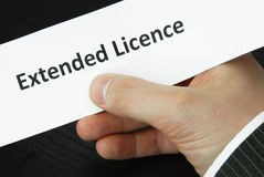 fördjupad licence royaltyfri bild