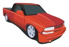 fördjupad röd lastbil för cab Royaltyfria Bilder