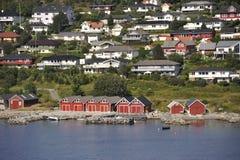 Fördjupad stad av Molde, Söder-Norge Fotografering för Bildbyråer