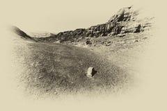 Fördjupning och tomhet i svartvitt royaltyfri foto