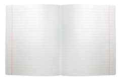 fördubbla den fodrade öppna paper seamless arkspreaden för anmärkningen Royaltyfria Bilder