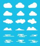 Fördunkla den fastställda samlingen med modern eller plan stildesign med olikt alternativ stock illustrationer