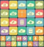 Fördunkla lagring, dataanalys, databas, nätverk stock illustrationer