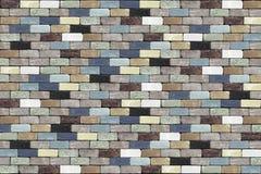 Fördunklad färgbakgrund med tegelstenväggar Royaltyfria Foton