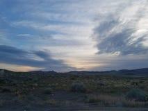 Fördunklad soluppgång i Nevada fotografering för bildbyråer