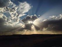 Fördunklar solnedgång royaltyfria foton