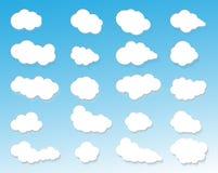 Fördunklar symbolen, molnig himmel, moln blå himmel, molnbakgrund, att tända för moln Royaltyfria Bilder