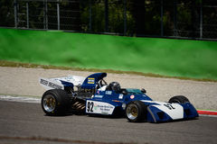 Före detta 1971 för Surtees TS9B formel 1 Mike Hailwood Arkivbild
