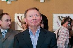 Före detta-president av Ukraina Leonid Kuchma arkivbilder