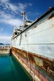 712 före detta USS Lincoln County LST-898, Koh Chang ö, Thailand för HTMS Chang royaltyfri bild