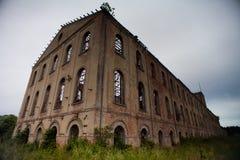 Före dettasockerfabrik Arkivfoto