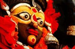 Förebild av en dekorerad indisk gud Arkivbilder