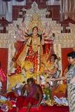 Förebild av gudinnan Durga Festivalen firas under den hela perioden av Navaratri för 10 dagar Royaltyfria Foton