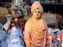 Förebild av swamien Vivekananda Arkivfoton