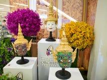Förebildbangkok orkidér 2014 Arkivbilder