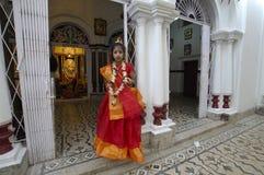 förebilder india s för leradurgafestival Royaltyfria Foton