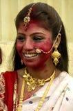förebilder india s för leradurgafestival Arkivfoton