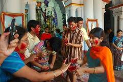förebilder india s för leradurgafestival Royaltyfri Fotografi