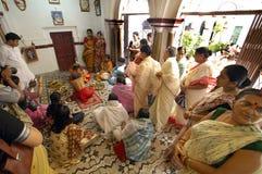 förebilder india s för leradurgafestival Arkivbild