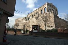 Föregående bysantinsk slott i Istanbul utan återställande Arkivfoto