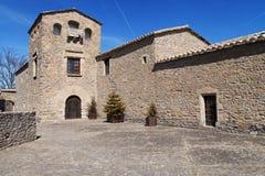 Föregående slott av Roda de Isabena Royaltyfria Bilder