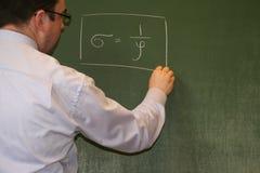 föreläsningsfysik arkivbild
