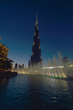 förenad arabisk khalifa för emirates för burjdubai skymning Arkivfoton