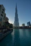 förenad arabisk khalifa för emirates för burjdubai skymning Royaltyfria Foton