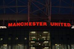 förenad manchester stadion Royaltyfri Fotografi