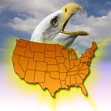förenade Amerika tillstånd Arkivbild