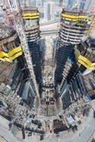 Förenade Arabemiraten Dubai, 05/21/2015, Damac står högt Dubai vid Paramount, konstruktion och byggnad Royaltyfria Foton