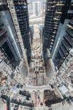 Förenade Arabemiraten Dubai, 05/21/2015, Damac står högt Dubai vid Paramount, konstruktion och byggnad Fotografering för Bildbyråer
