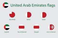 Förenade Arabemiraten flaggor vektor illustrationer