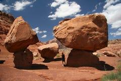 förenade arizona balansera stenblocktillstånd Royaltyfri Foto