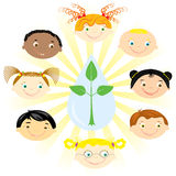 förenade barn Royaltyfria Foton