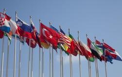 förenade flaggor Arkivfoto