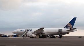 förenade flygbolag Arkivbild